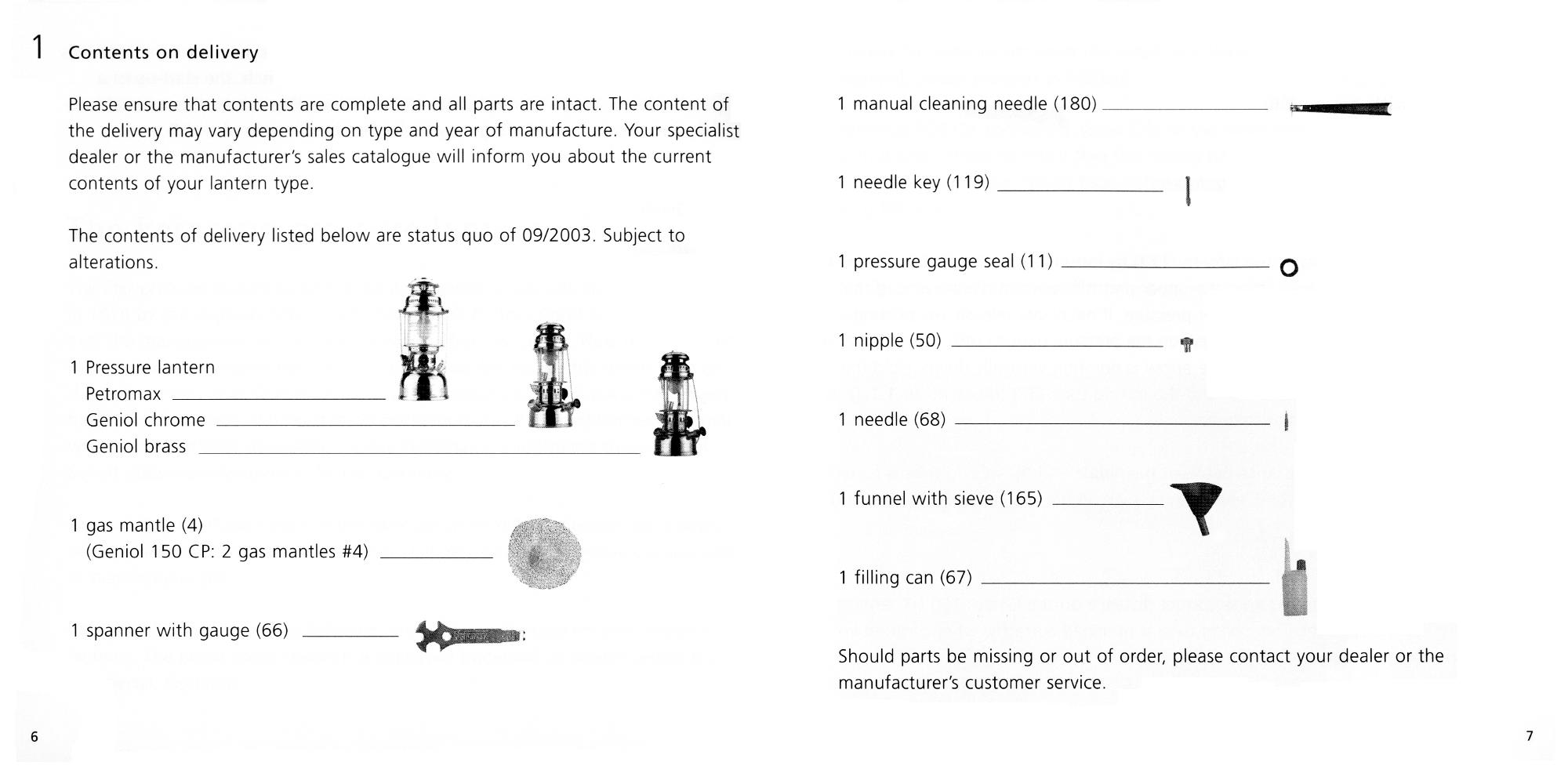 Petromax Instructions page 06 and 07