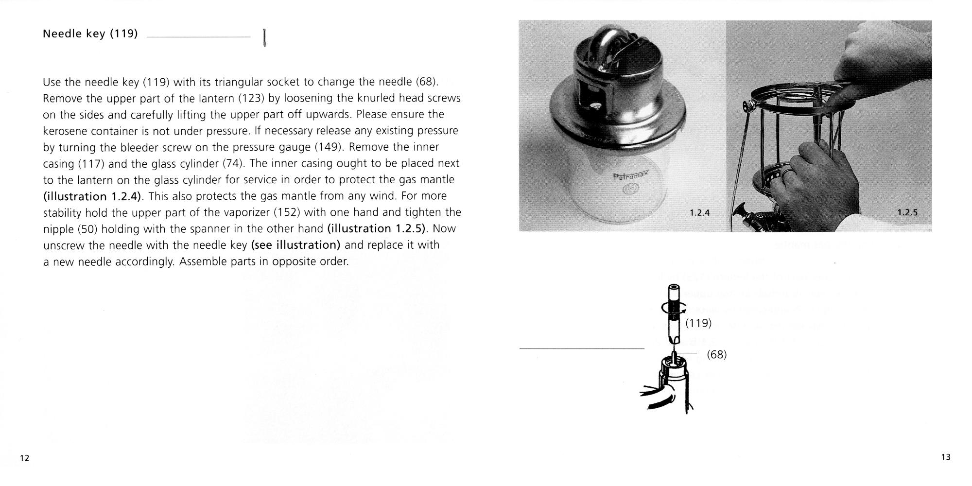 Petromax Instructions page 12 and 13